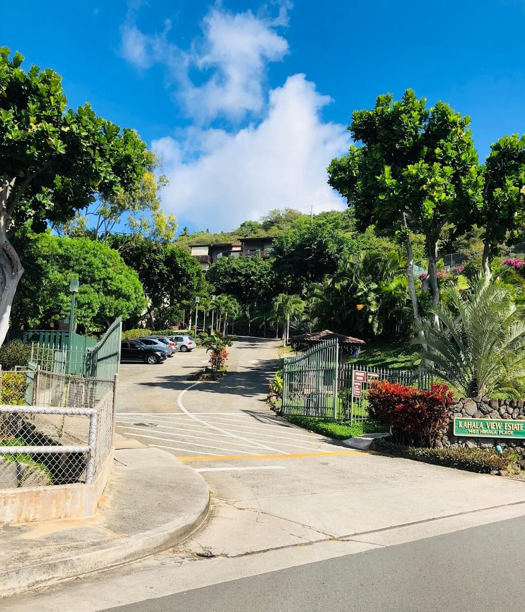 Kahala View Estatesのエントランス