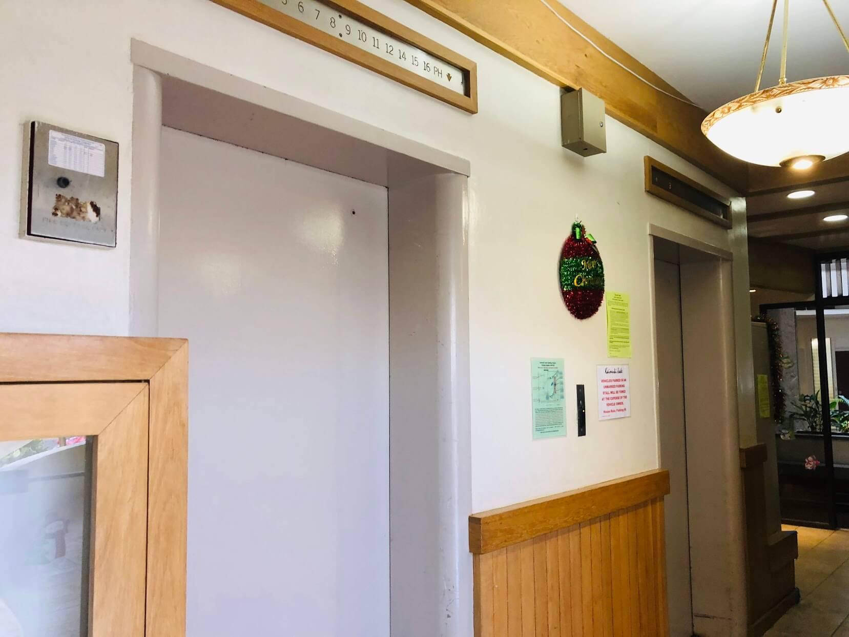 Kaimuki Jadeのエレベーター