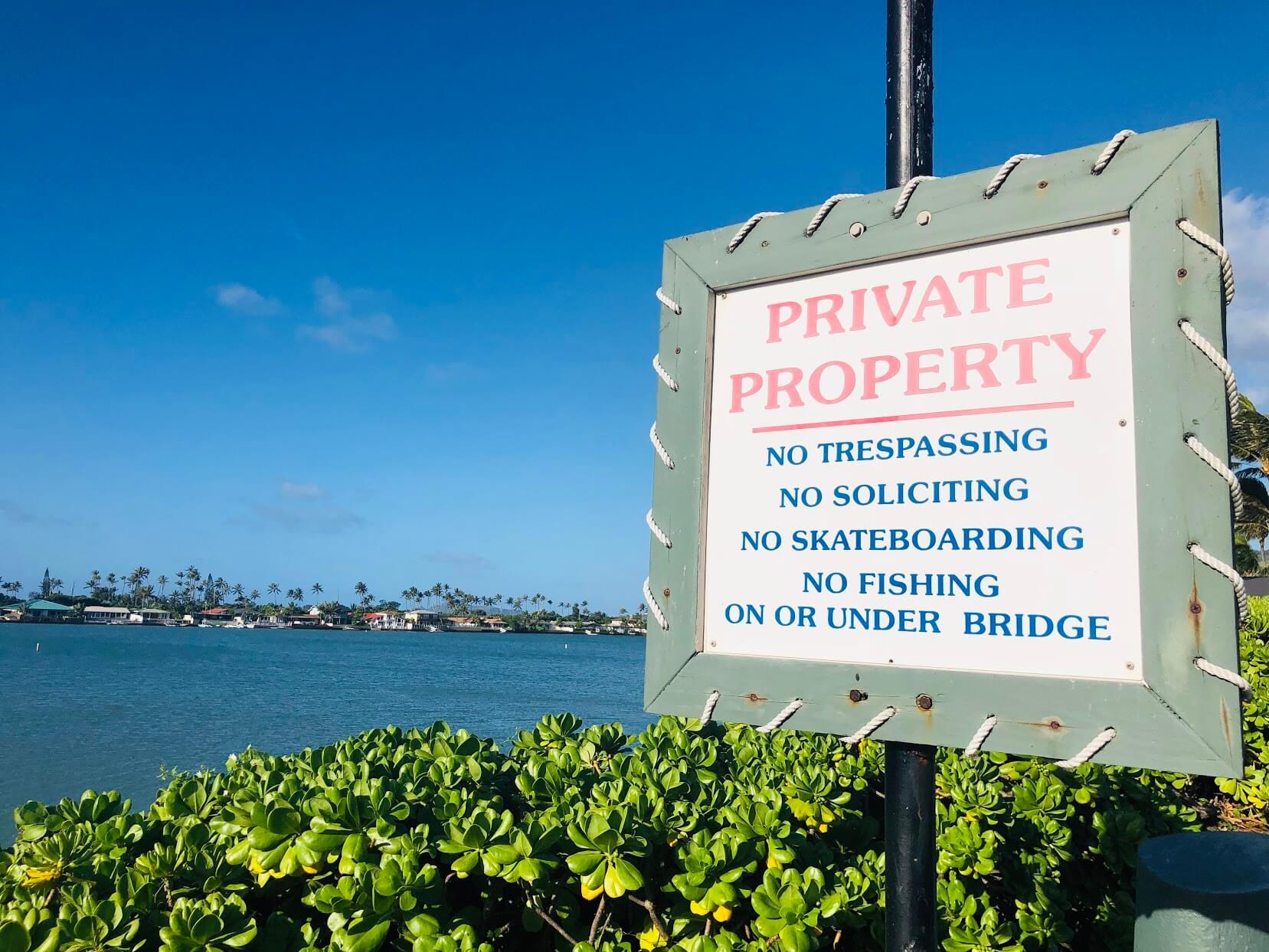 Koko Isleの標識