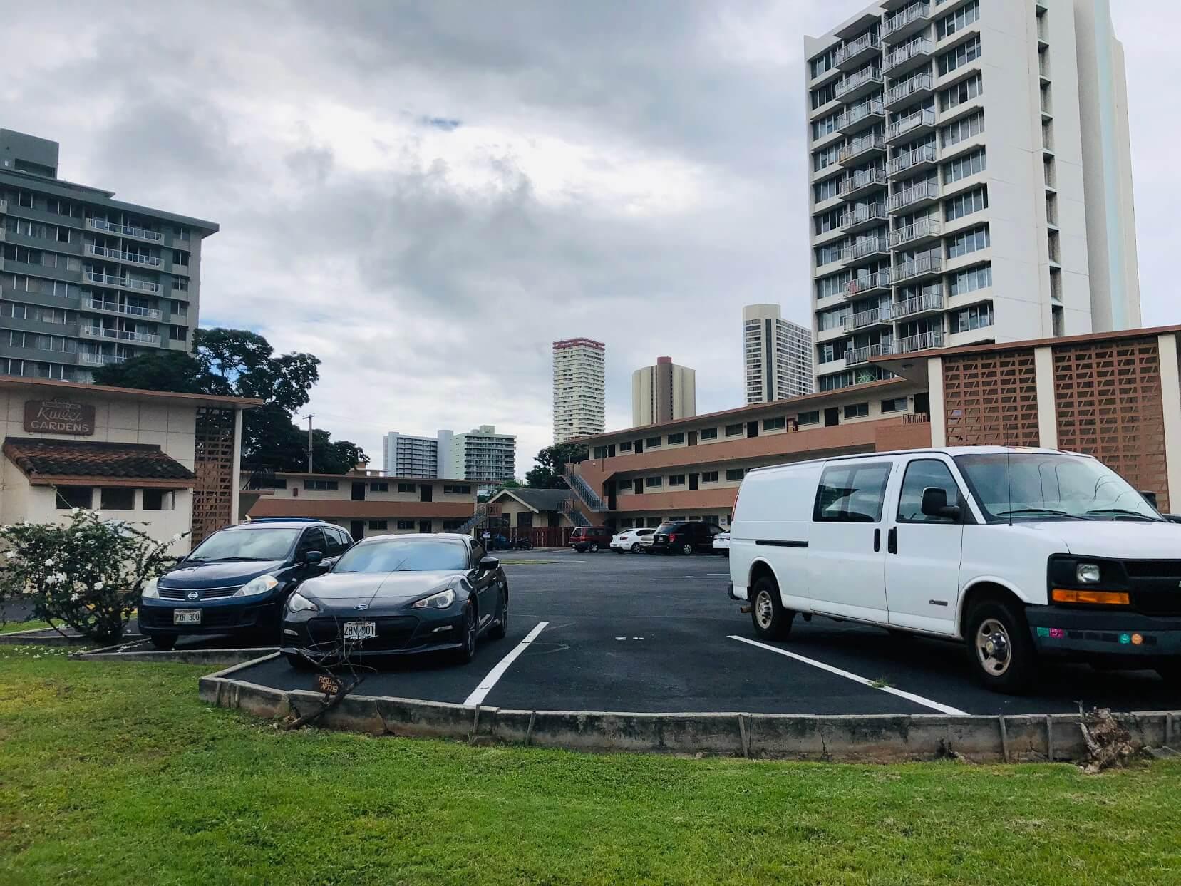 Kuilei Gardensの駐車場