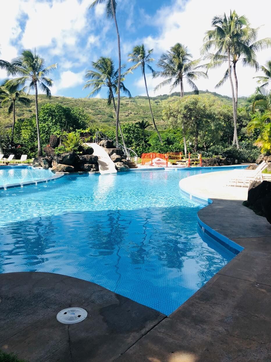 Mauna Luan 511のプール