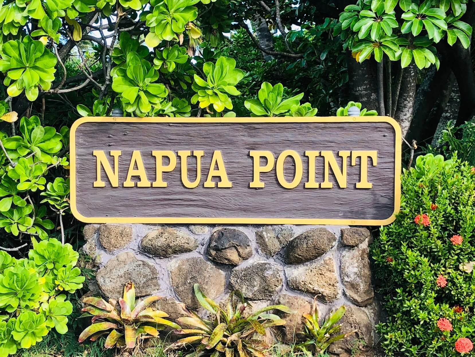 Napua Pointの看板