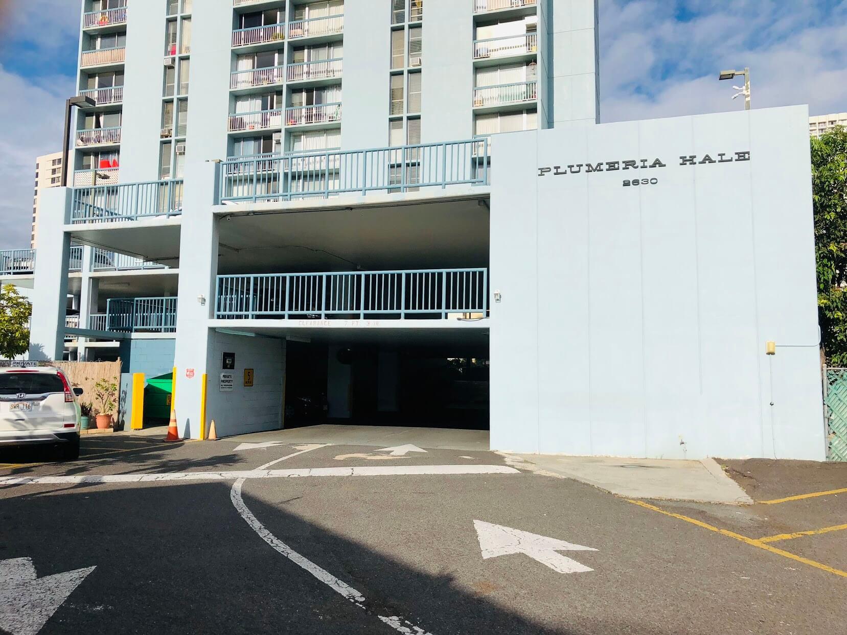 Plumeria Haleの駐車場