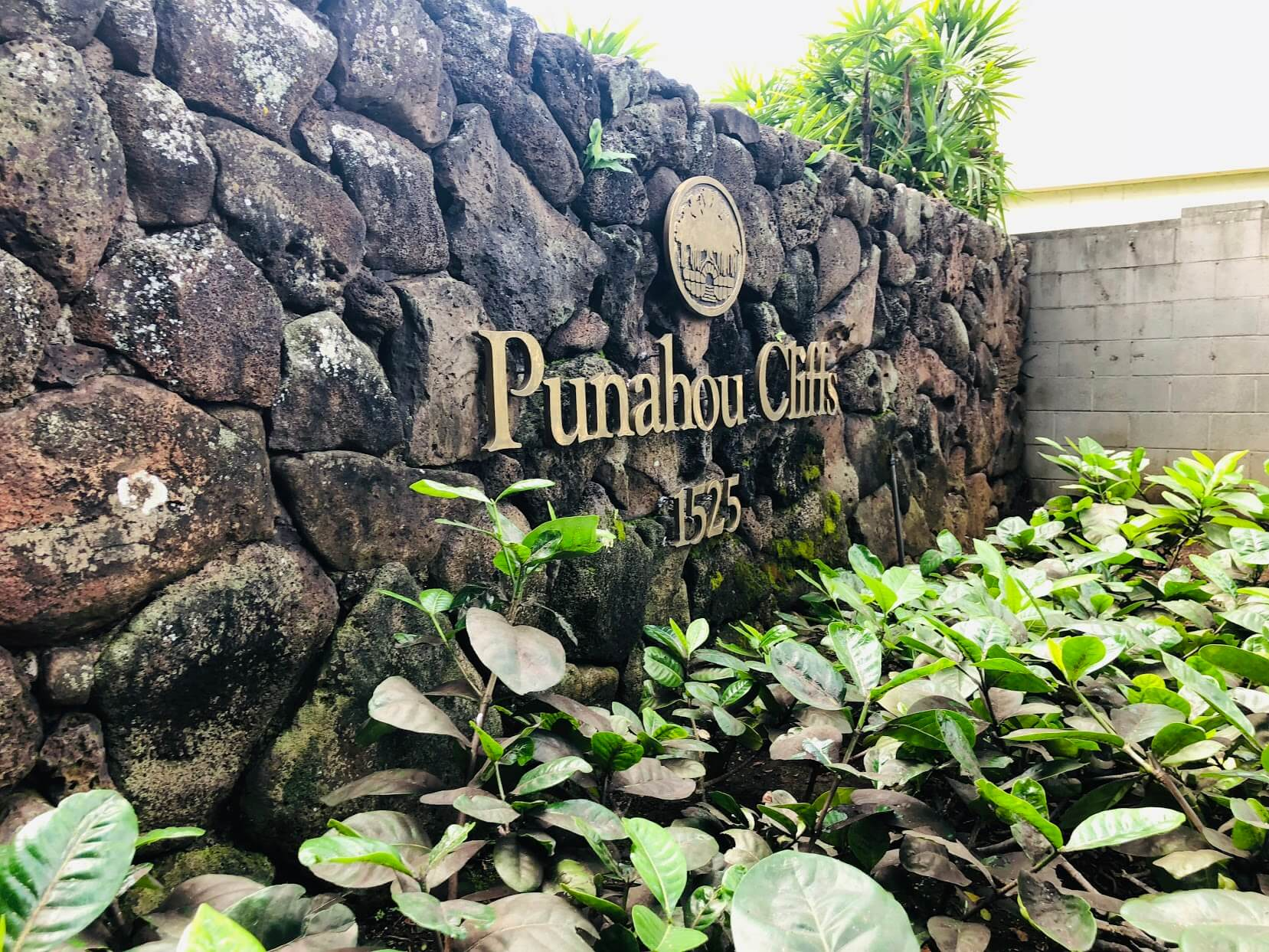 Punahou Cliffsの看板
