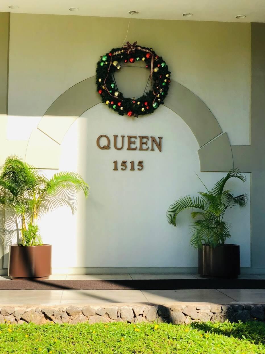 Queen Emma Gardensの看板