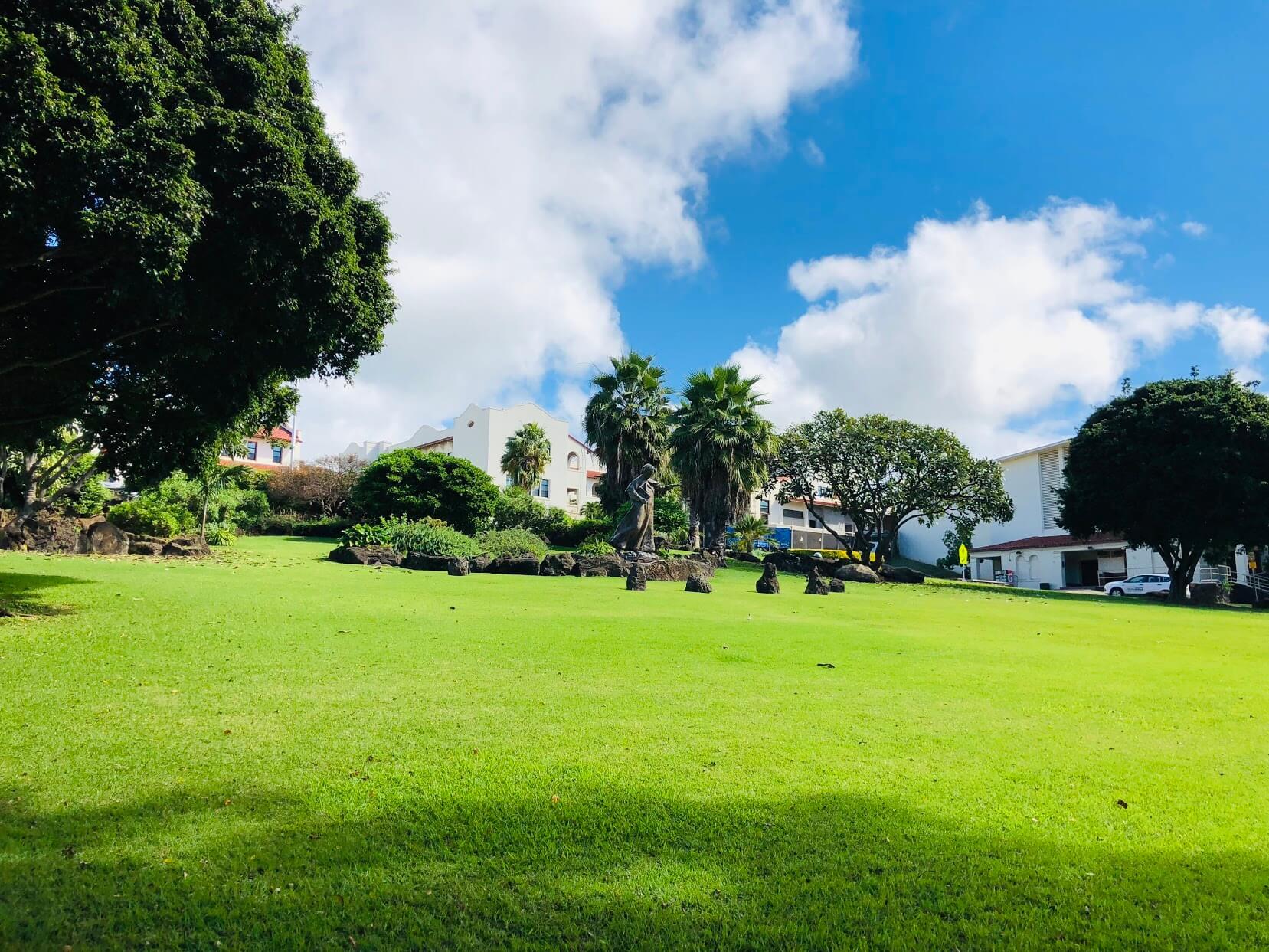 Regency Parkの芝生