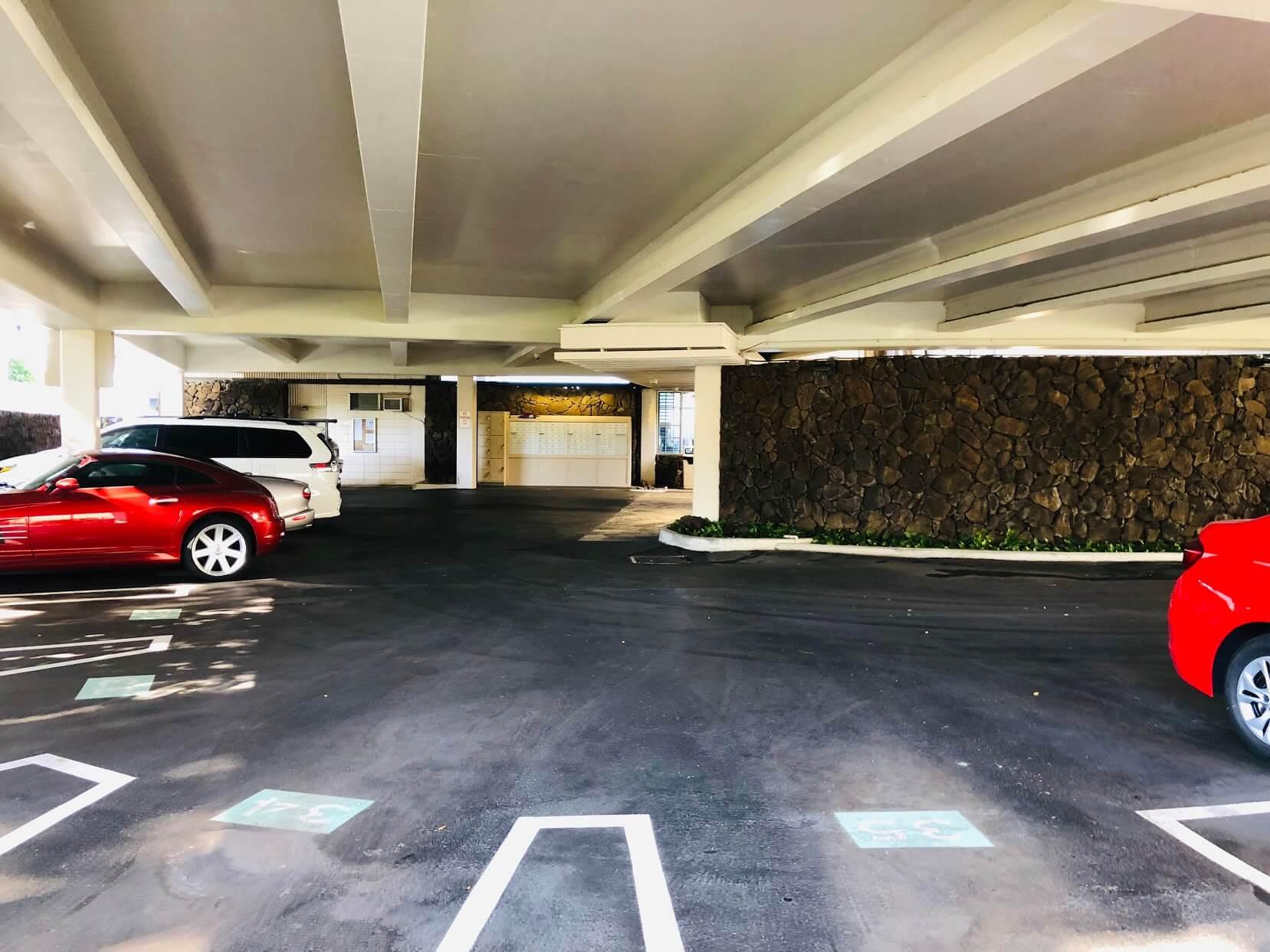 Sans Souciの駐車場