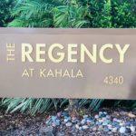 The Regency at Kahalaの看板