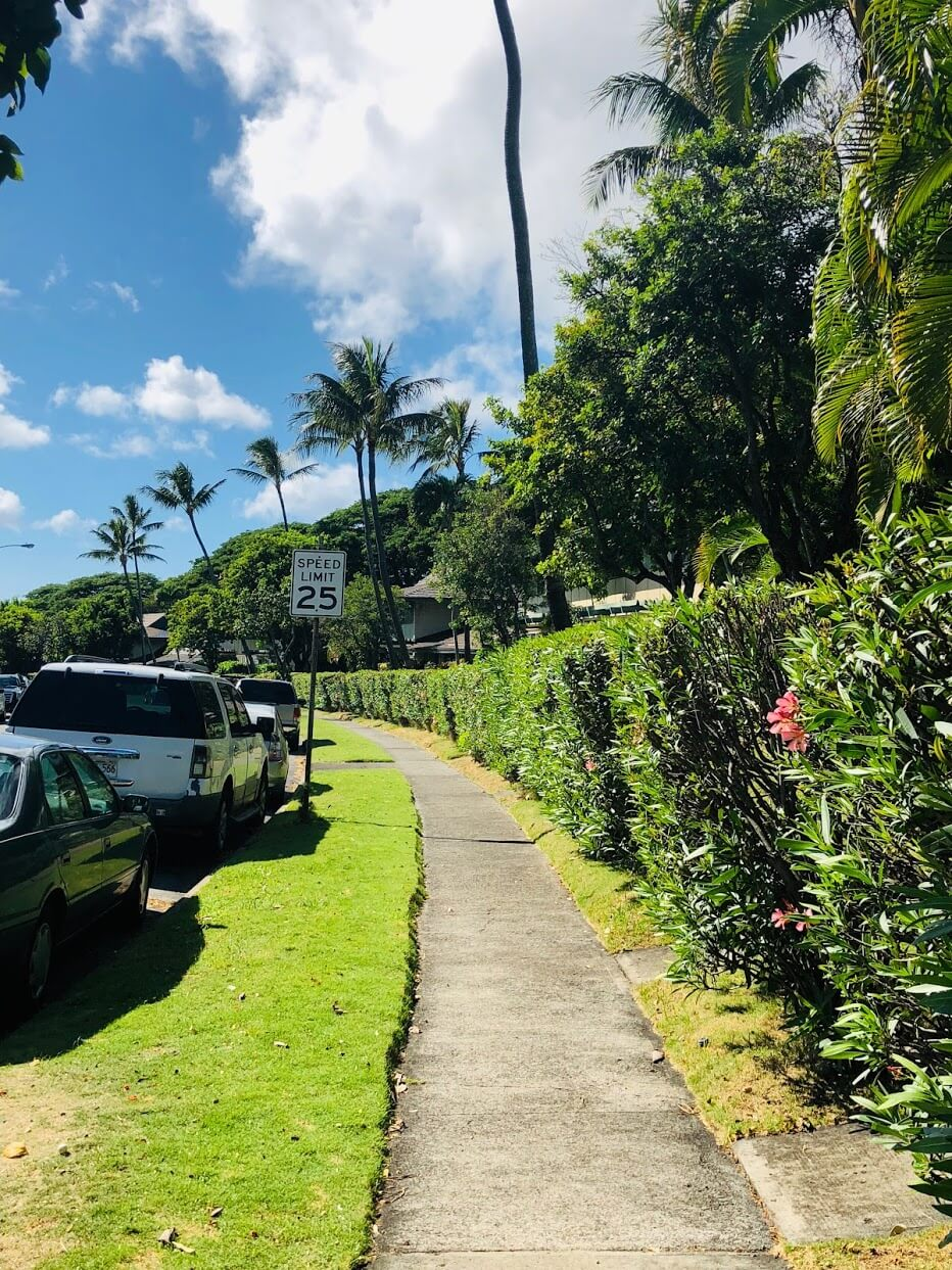 Waialae Gardensの道