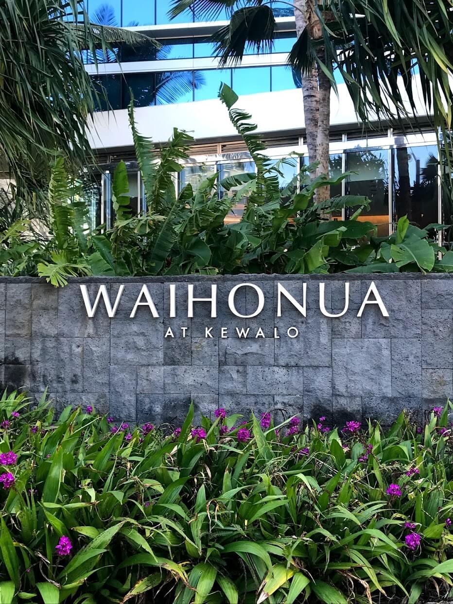 Waihonuaの看板