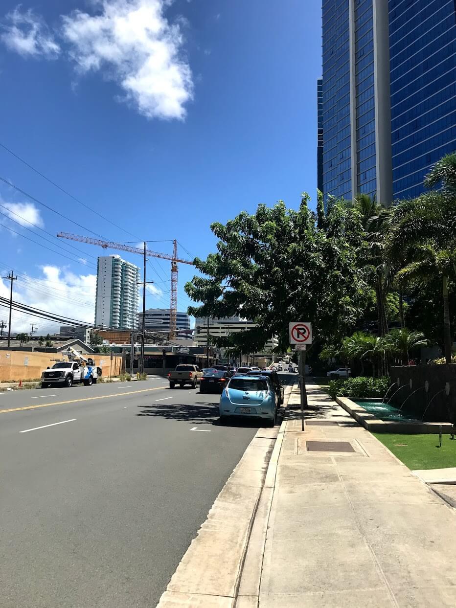 Waihonuaの道路