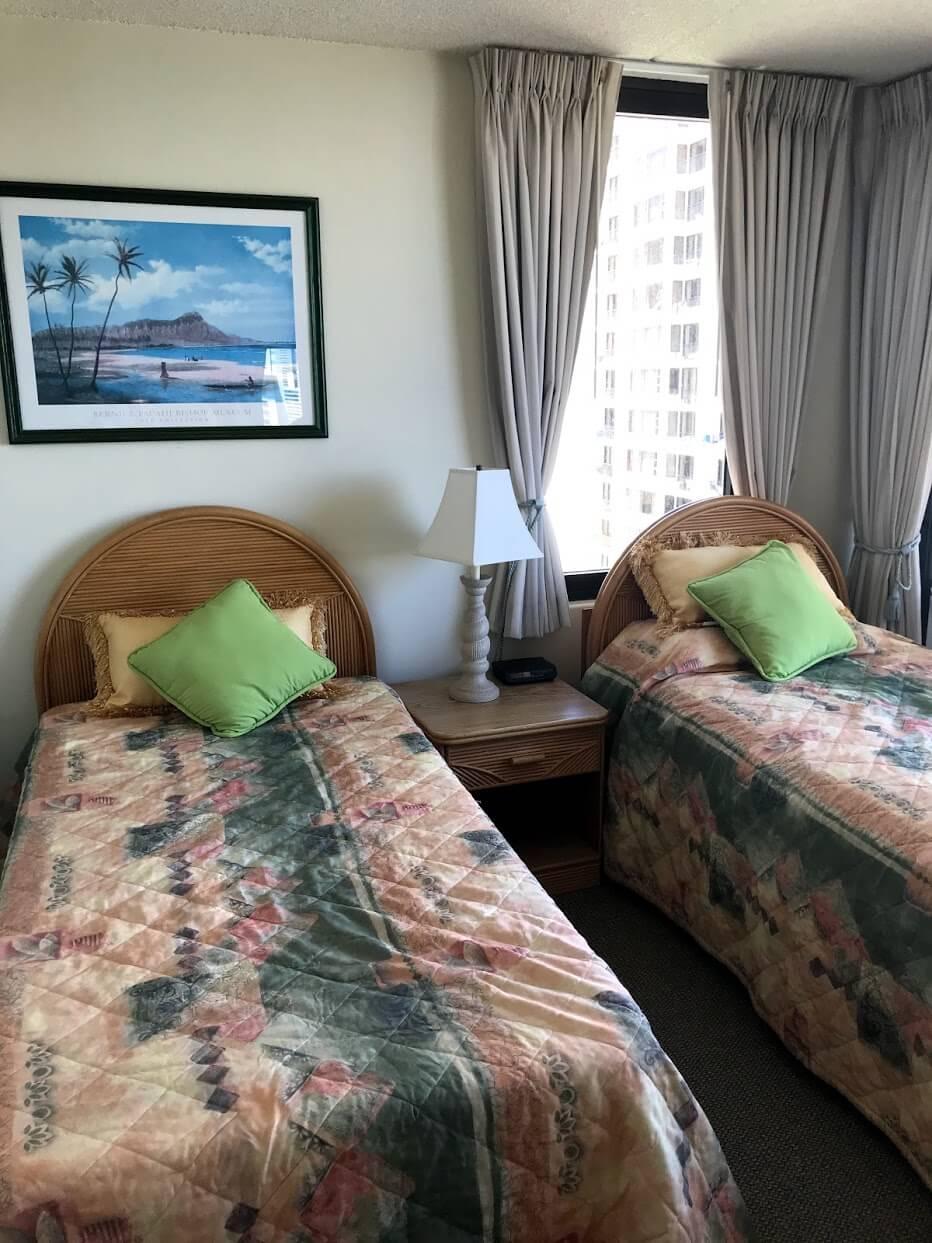 Waikiki-Sunsetのベッド