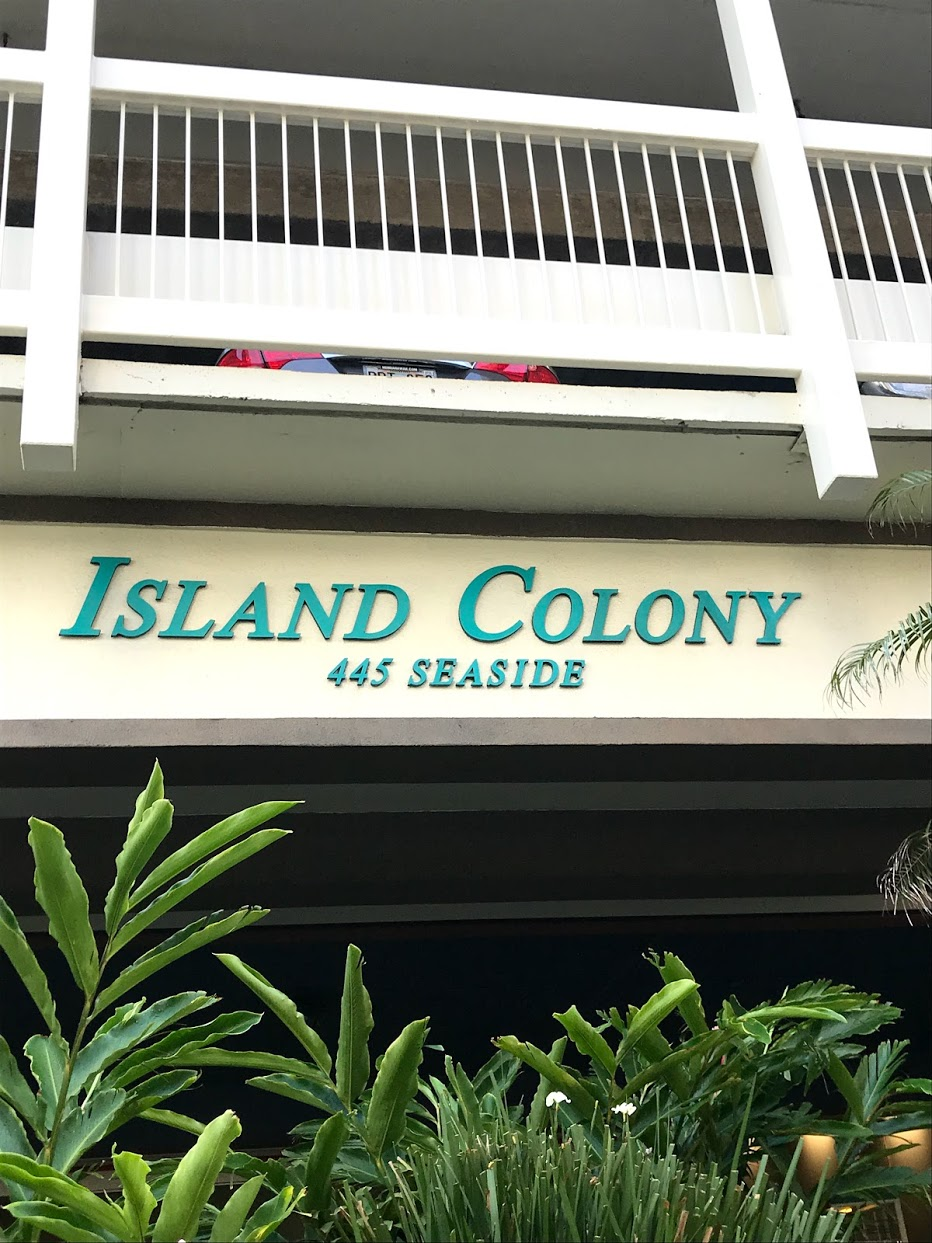 Island-Colonyの看板