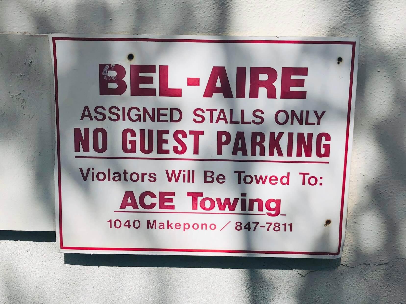 The Bel Aireの注意喚起